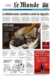 Le Monde du Mercredi 10 Juillet 2019