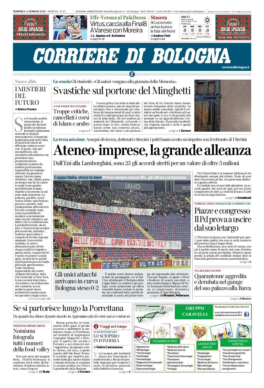 Corriere di Bologna – 13 gennaio 2019