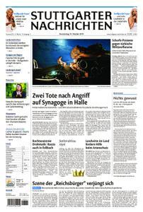 Stuttgarter Nachrichten Blick vom Fernsehturm - 10. Oktober 2019