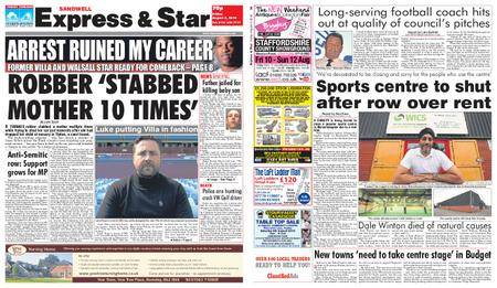 Express and Star Sandwell Edition – August 03, 2018