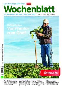 Bayerisches Landwirtschaftliches Wochenblatt Oesterreich - 21. November 2019