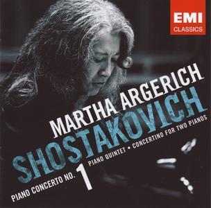 Martha Argerich - Shostakovich: Piano Concerto No.1, Piano Quintet, Concertino for Two Pianos (2007) [CD-Rip]