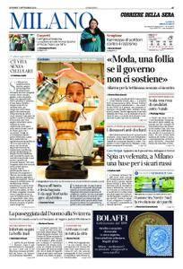 Corriere della Sera Milano – 07 settembre 2018