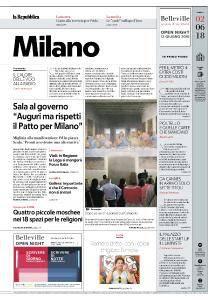 la Repubblica Milano - 2 Giugno 2018