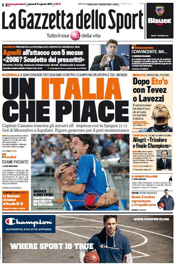 La Gazzetta dello Sport (11-08-11)