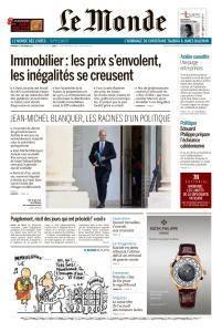 Le Monde du Vendredi 1 Décembre 2017