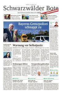 Schwarzwälder Bote St. Georgen, Triberg, Furtwangen - 28. August 2018