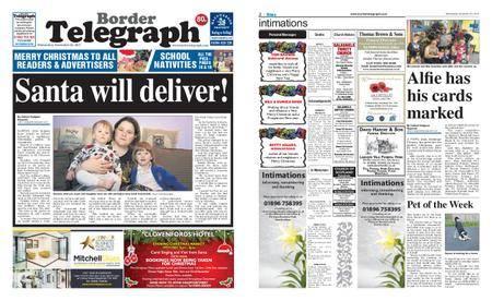Border Telegraph – December 20, 2017