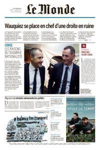 Le Monde du Mardi 5 Décembre 2017
