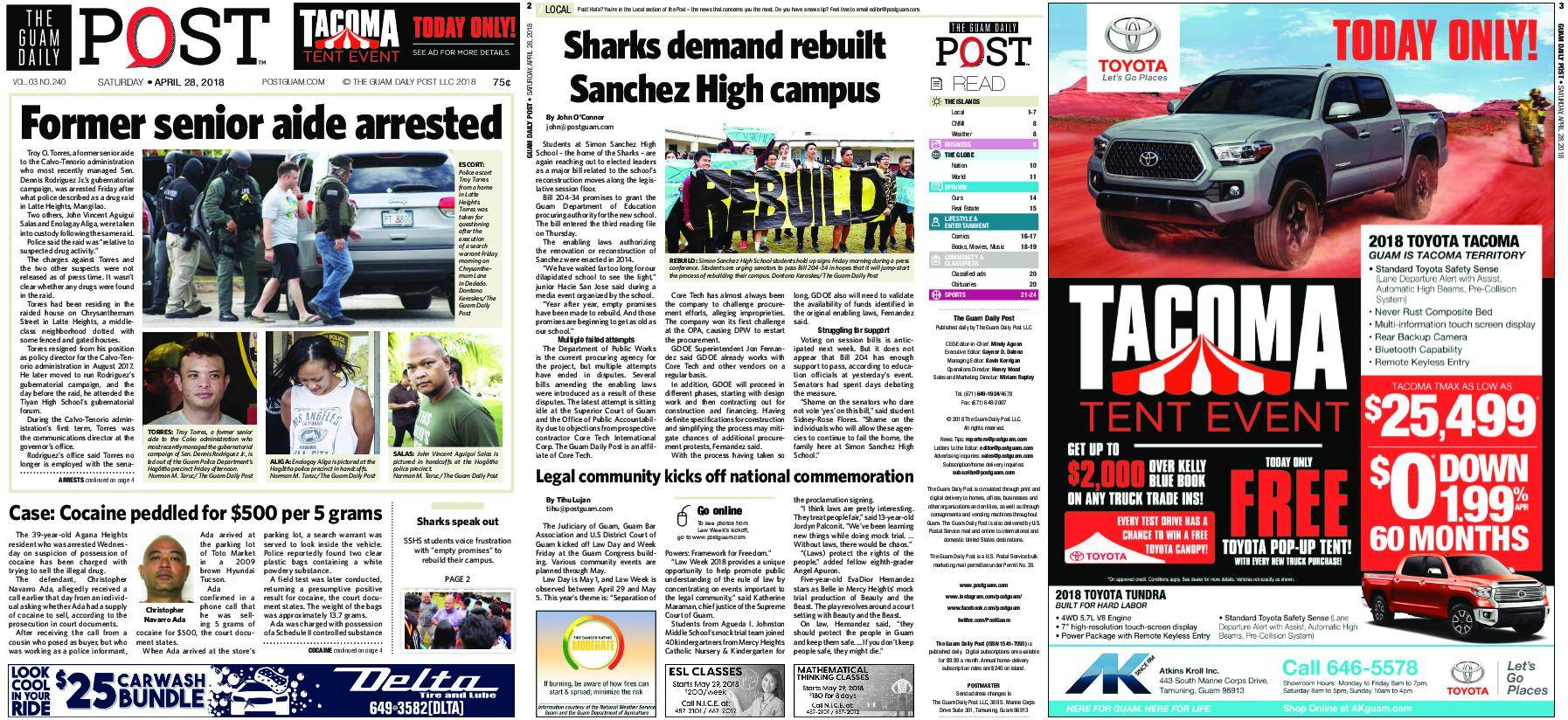 The Guam Daily Post – April 28, 2018