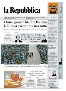 la Repubblica - 17 Dicembre 2018
