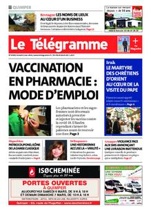 Le Télégramme Quimper – 06 mars 2021