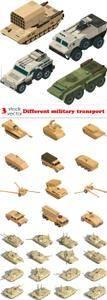 Vectors - Different military transport