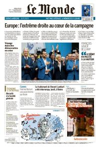 Le Monde du Mardi 21 Mai 2019
