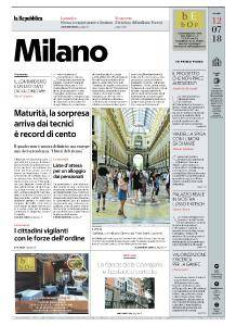 la Repubblica Milano - 12 Luglio 2018