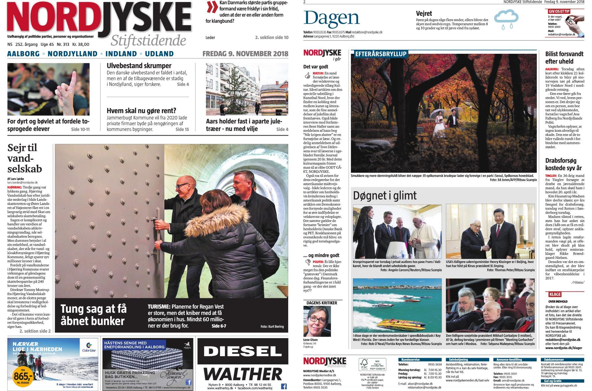 Nordjyske Stiftstidende – 09. november 2018