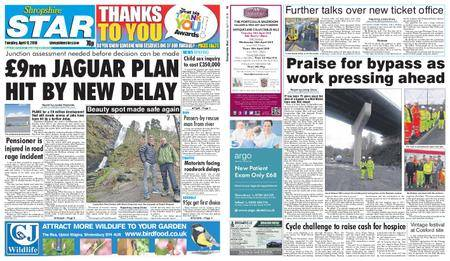 Shropshire Star Shrewsbury Edition – April 17, 2018