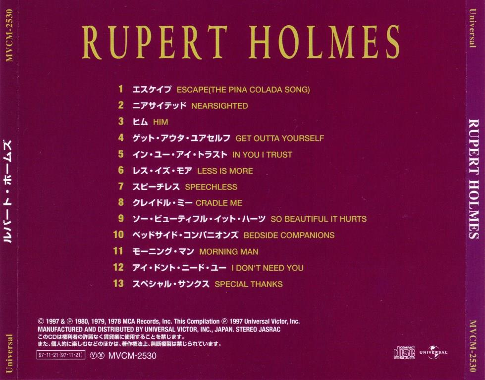 Rupert Holmes - Best One (1997) [Japan] {20bit K2 Mastering}