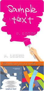 Promotional paint template vector
