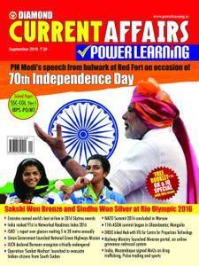 Current Affairs Power Learning - September 2016