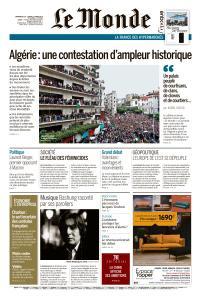 Le Monde du Dimanche 10 et Lundi 11 Mars 2019