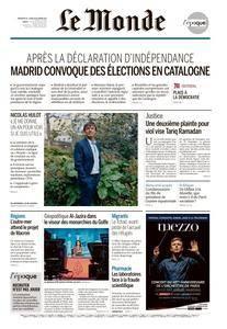 Le Monde du Dimanche 29 et Lundi 30 Octobre 2017