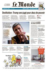 Le Monde du Vendredi 20 Décembre 2019