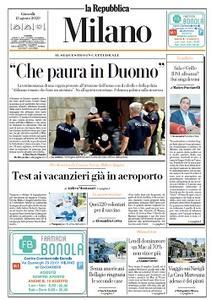 la Repubblica Milano - 13 Agosto 2020