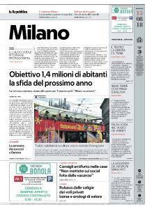 la Repubblica Milano - 15 Agosto 2018