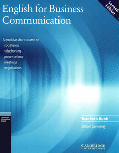 English for Business Communication Teacher's book, 2 edition (repost)