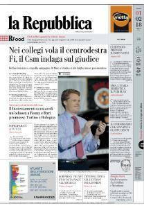 la Repubblica - 1 Febbraio 2018
