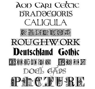 Fancy Fonts - Decorated, Letterheads, Calligraphy