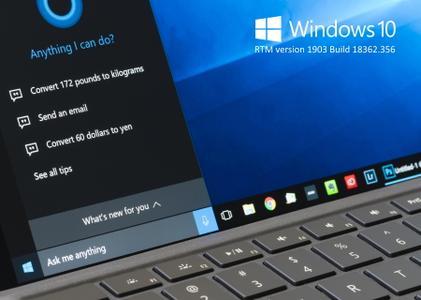 Windows 10 RTM version 1903 Build 18362.356