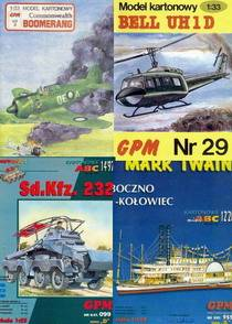 Modelcards Military  GPM  Paper models  Part 3