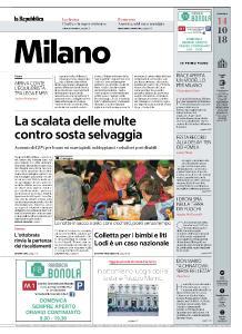 la Repubblica Milano - 14 Ottobre 2018