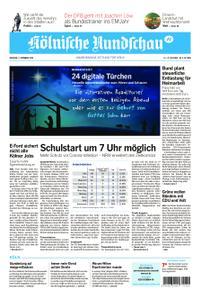 Kölnische Rundschau Köln-West – 01. Dezember 2020