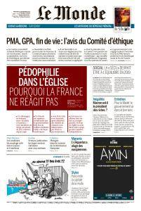 Le Monde du Mercredi 26 Septembre 2018