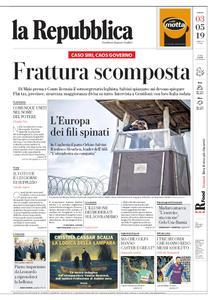 la Repubblica – 03 maggio 2019