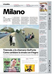 la Repubblica Milano - 27 Dicembre 2018