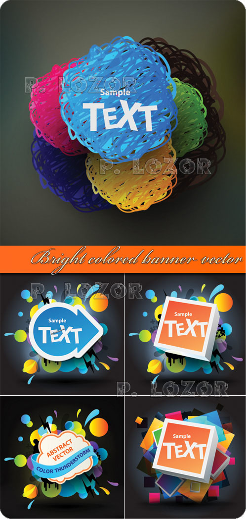 Bright colored banner vector