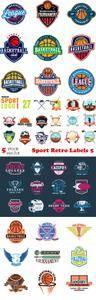 Vectors - Sport Retro Labels 5