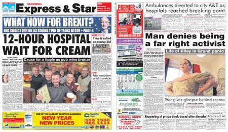 Express and Star Sandwell Edition – January 10, 2018