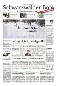 Schwarzwälder Bote St. Georgen, Triberg, Furtwangen - 11. Januar 2018