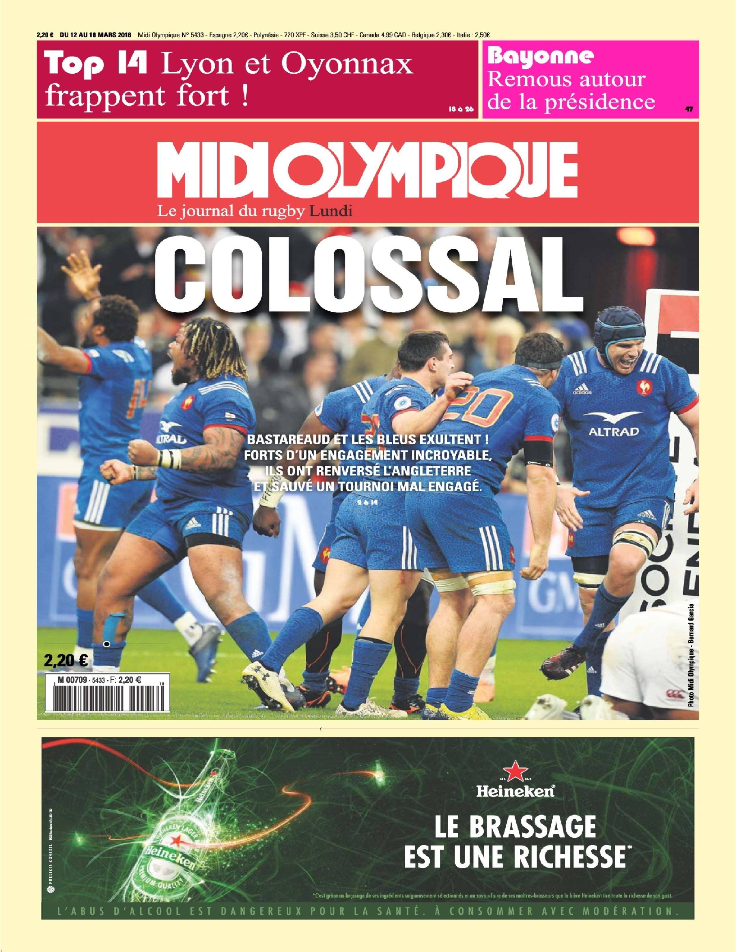Midi Olympique Rouge - 12 mars 2018