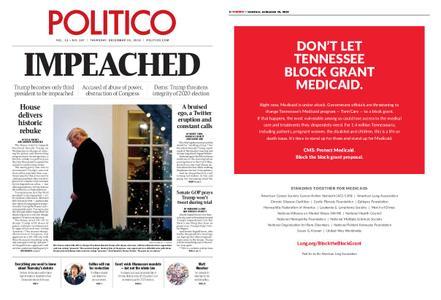 Politico – December 19, 2019