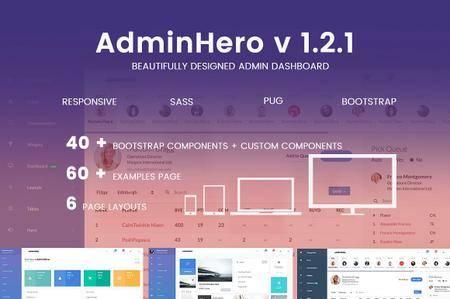 AdminHero - Admin Dashboard Template 1.2.1