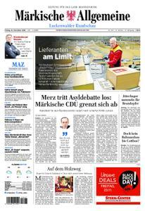 Märkische Allgemeine Luckenwalder Rundschau - 23. November 2018