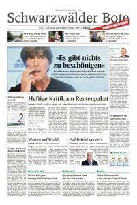Schwarzwälder Bote Sulz - 30. August 2018