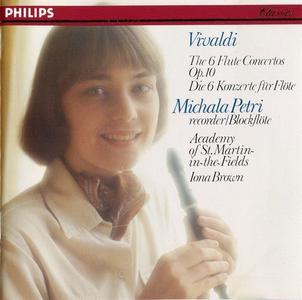Michala Petri, Academy of St. Martin-in-the-Fields, Iona Brown - Vivaldi: 6 Flute Concertos Op.10 (1990)