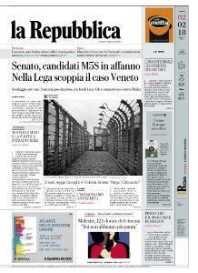 la Repubblica - 2 Febbraio 2018